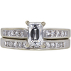 1.01 ct. Radiant Modified Cut Bridal Set Ring, I, I1 #3