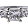 1.01 ct. Princess Cut 3 Stone Ring, G, VS1 #4