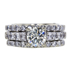 1.03 ct. Round Cut Bridal Set Ring, M, I1 #3