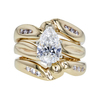 1.63 ct. Pear Cut Bridal Set Ring, G, SI1 #3