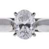 1.0 ct. Oval Cut Solitaire Ring, D, SI1 #4