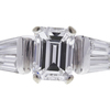 1.0 ct. Emerald Cut 3 Stone Ring, E, VS1 #4