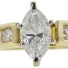 0.95 ct. Marquise Cut Bridal Set Ring, G-H, SI1 #1