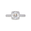 1.59 ct. Round Cut Halo Ring, G, SI2 #3