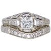 0.7 ct. Princess Cut Bridal Set Ring, G-H, VS1 #1
