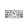 1.0 ct. Round Cut Bridal Set Ring, M-Z, SI2 #3