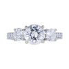 1.29 ct. Round Cut 3 Stone Ring, H, I2 #3