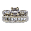 0.70 ct. Round Cut Bridal Set Ring, H, SI1 #3