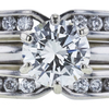 0.91 ct. Round Cut Bridal Set Ring, J, VS2 #4