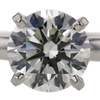 3.01 ct. Round Cut Solitaire Ring #2