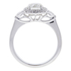 0.79 ct. Round Modified Brilliant Cut Halo Ring, I, SI1 #4
