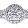 0.77 ct. Round Cut Halo Ring, F, SI2 #4