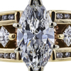 1.77 ct. Marquise Cut Bridal Set Ring, G, I1 #4