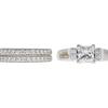 0.97 ct. Princess Cut Bridal Set Ring, G, I1 #3