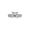 1.74 ct. Princess Cut Bridal Set Ring, K, I2 #4