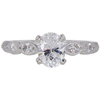 0.74 ct. Oval Cut Solitaire Ring, D, VVS2 #3