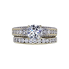 1.02 ct. Round Cut Bridal Set Ring, G, I1 #4