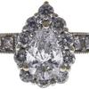0.79 ct. Pear Cut Bridal Set Ring, D, SI2 #4
