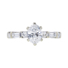 0.91 ct. Oval Cut Solitaire Ring, D, SI2 #3