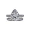 0.91 ct. Pear Cut Bridal Set Ring, F, VS1 #3