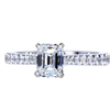 0.95 ct. Emerald Cut Solitaire Ring, F, SI1 #3