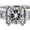 1.03 ct. Princess Cut Bridal Set Ring #4