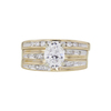 1.01 ct. Oval Cut Bridal Set Ring, D, SI2 #3