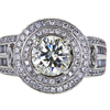 2.13 ct. Round Cut Halo Ring, M-Z, SI2 #3