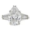 4.93 ct. Pear Cut 3 Stone Ring, F, SI1 #4
