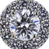 1.01 ct. Round Cut Halo Ring, F, SI2 #4