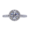 0.96 ct. Round Cut Halo Ring, H, VS1 #3