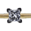 0.99 ct. Princess Cut Solitaire Ring, F, SI2 #4