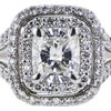 0.83 ct. Cushion Cut Halo Ring, G, VS2 #4