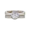0.73 ct. Round Cut Bridal Set Ring, G, VS2 #3