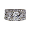 1.00 ct. Oval Cut Bridal Set Ring, H, SI1 #3