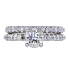 0.91 ct. Round Cut Bridal Set Ring, F, VS1 #3