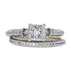 1.02 ct. Princess Cut Bridal Set Ring, H, VS2 #2