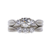 0.58 ct. Round Cut Bridal Set Ring, I, SI1 #3