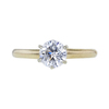 1.10 ct. Round Cut Solitaire Ring, F, I1 #2