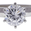 1.24 ct. Round Cut Solitaire Ring, G, SI2 #4