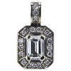 1.05 ct. Emerald Cut Pendant Necklace, G, SI1 #4