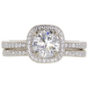 1.07 ct. Round Cut Bridal Set Ring, I, I1 #3
