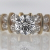 .9 ct. Round Cut Central Cluster Ring #4