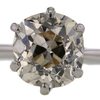 2.94 ct. Old Mine Cut Solitaire Ring #4