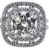 3.05 ct. Round Cut Halo Ring, M, I2 #4