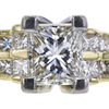 1.90 ct. Princess Cut Solitaire Ring, H-I, VS1 #1