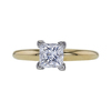 0.98 ct. Princess Cut Solitaire Ring, D, SI2 #2