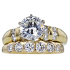 1.52 ct. Round Cut Bridal Set Ring, J, SI1 #3