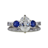1.56 ct. Oval Cut Bridal Set Ring, J, SI2 #3