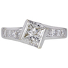 0.91 ct. Princess Cut Solitaire Ring, H, I1 #1